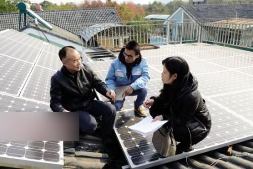 桂林首个个人光伏电站并网