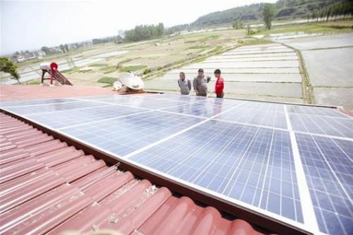 襄阳首个家庭光伏发电项目投运