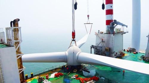 中国海装H171-5MW日前在江苏如东吊装成功