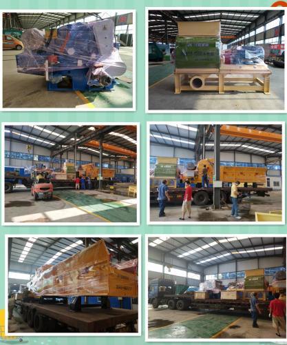 8月10日--山东汉隆机械参加广州展会的机械出发啦—升级版218木片机、粉碎机、综合破碎机