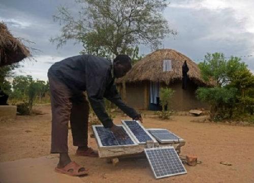 中国光伏产品为非洲带来光明