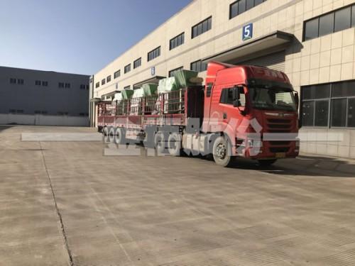 金梧股份为淮南客户发送三台生物质颗粒机