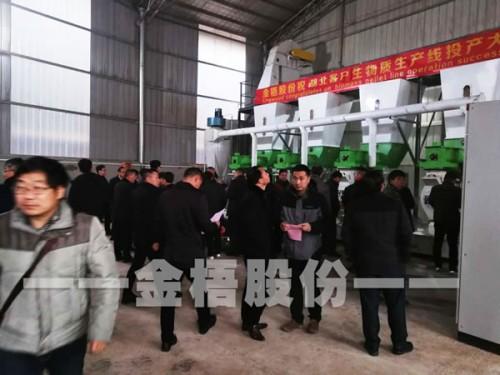 湖北赤壁市政府领导参观金梧股份为当地客户建设的生物质颗粒生产线