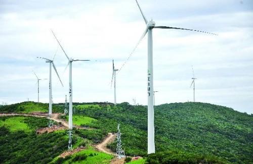 重庆最大的风电场首台机组并网发电