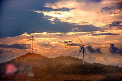湖南道县审章塘风电场并网发电