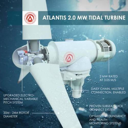SIMEC Atlantis Energy推出全球最大的单转子潮汐涡轮机AR2000