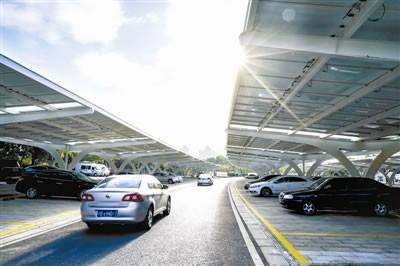 无锡市停车场启用光伏发电 日发电量达6000度