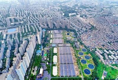 光伏组件助力安徽首座最大污水处理厂绿色清洁能源