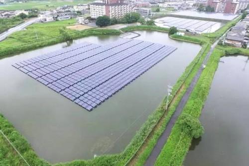 漂浮式太阳能 '水上睡莲'