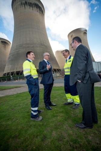 美国驻英大使访问德拉克斯发电站