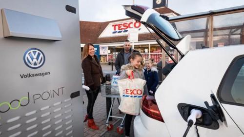 大众汽车与乐购计划合作建立英国最大的零售充电网络