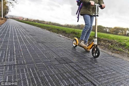 德国测试首个太阳能自行车道