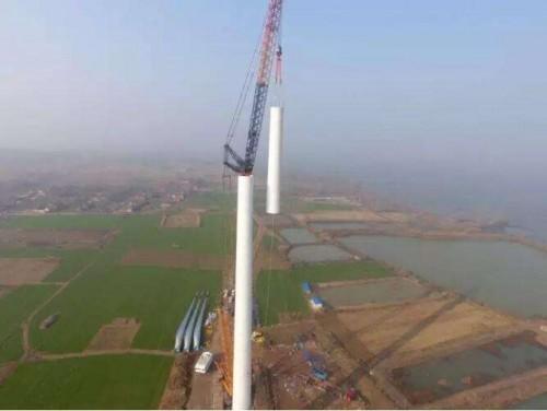 泗洪风电场再创低风速风区发电时数新高