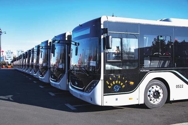 首批140辆新能源电动公交车抵达集宁