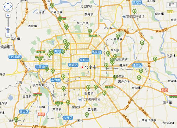 40家4S店网络分布图-北京电动汽车充电桩分布图高清图片
