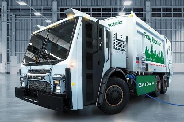 Mack Trucks展示首款电池动力垃圾车LR BEV