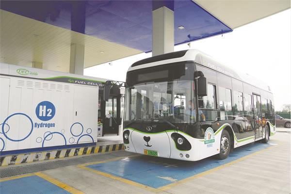 """氢燃料电池公交运营2年 郫都打造""""绿色氢都""""新能源高地"""
