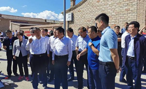 大同市长武宏文带团考察启迪农村生物质能源综合化利用项目