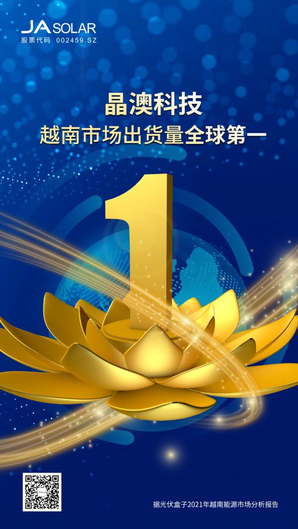 晶澳科技2020年越南市场出货量全球第一