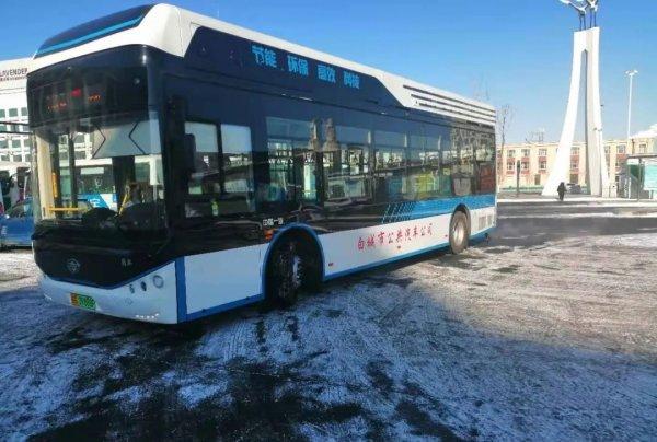 搭载REFIRE重塑科技系统 燃料电池公交车自由驰骋极寒白城