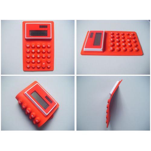 硅胶折叠防水太阳能计算器