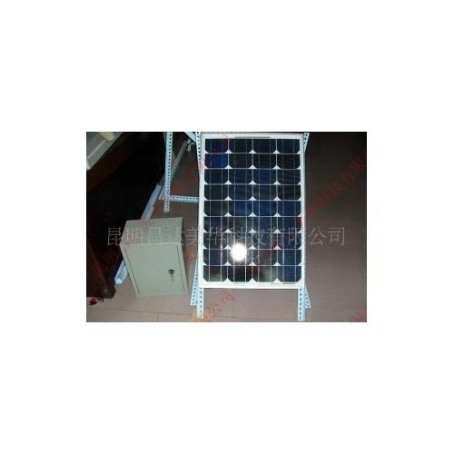 太陽能發電機看電視