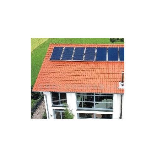 太陽能發電系統看電視