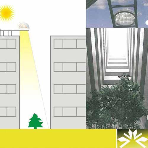 棱镜式阳光导向 庭院照明