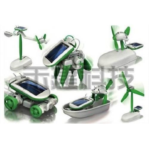 迷你6合1太阳能玩具