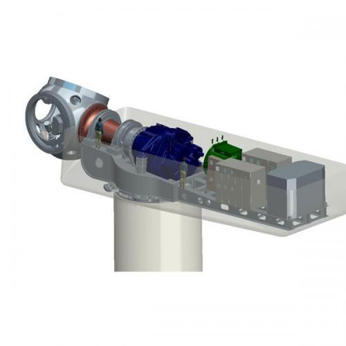 5.0MW半直驱永磁风力发电机组