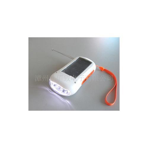 太阳能多功能LED手电筒