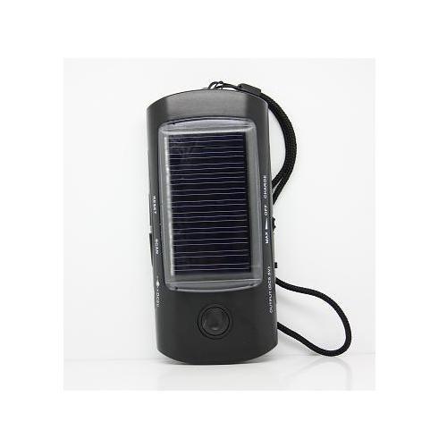 太阳能收音机手电筒