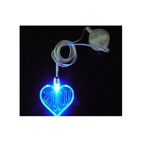 心型LED发光项链