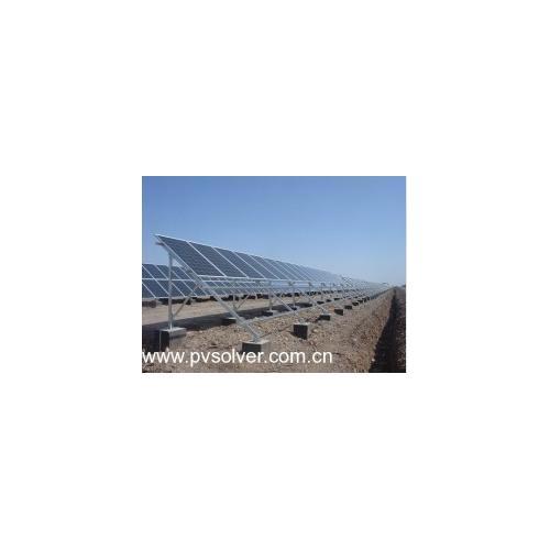 地面水泥基础太阳能支架