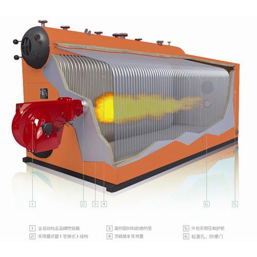 臥式雙鍋筒水管式燃氣蒸汽鍋爐