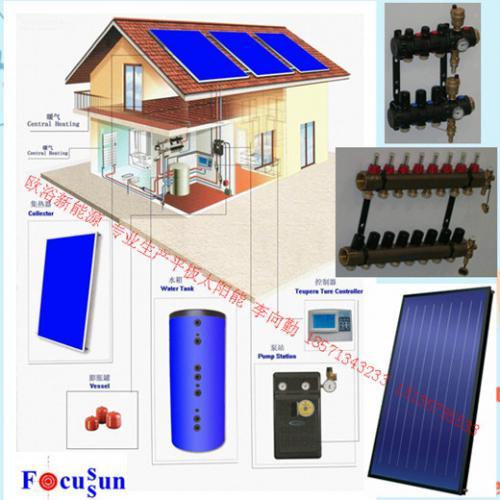 平板太阳能采暖系统