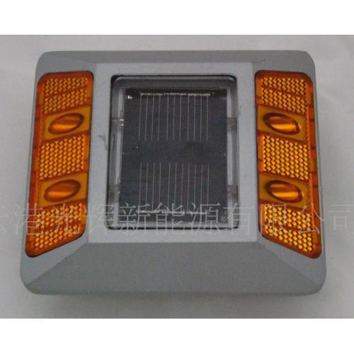 黄LED铸铝太阳能道钉灯