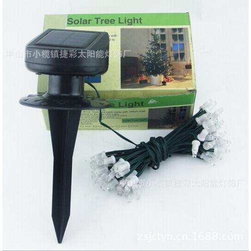 一条线组太阳能圣诞灯串