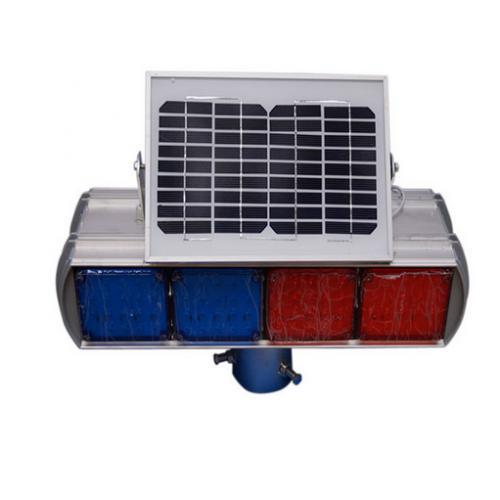 太阳能双面交通警示灯