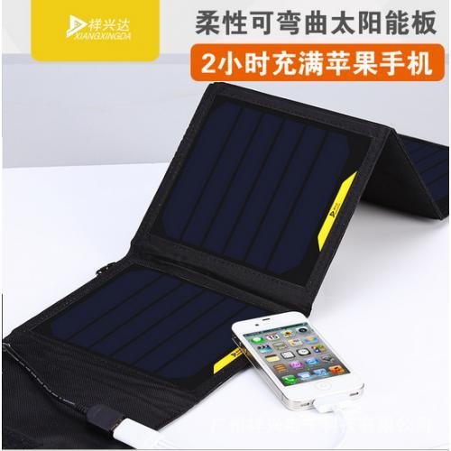 可弯曲柔性太阳能手机充电器