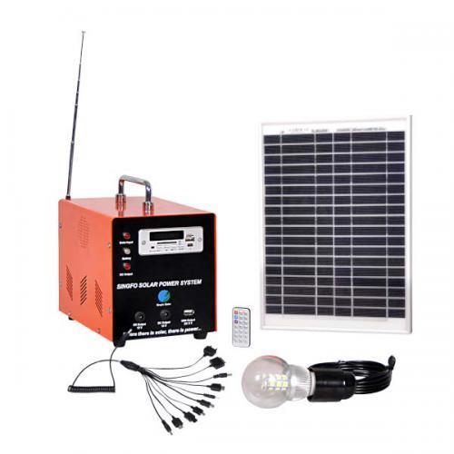 10W手提多功能太阳能发电系统