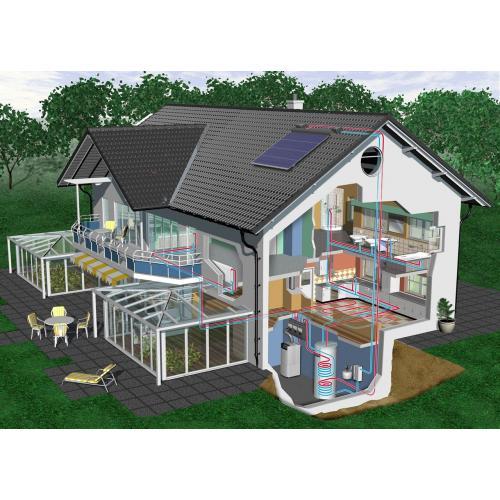 别墅式分体太阳能热水器