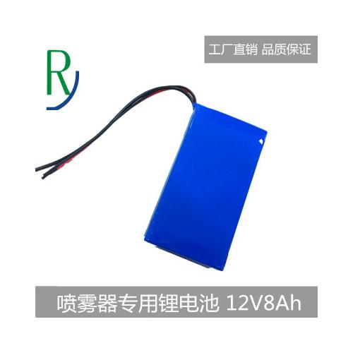 12V8Ah喷雾器锂电池足容量