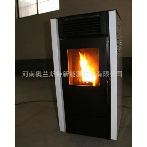 生物质颗粒智能真火取暖炉