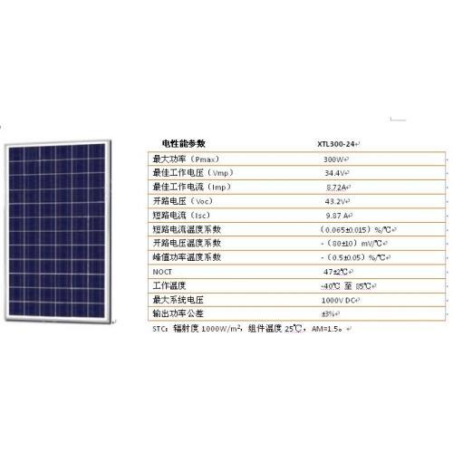 多晶300W-24V太阳能板发电系统
