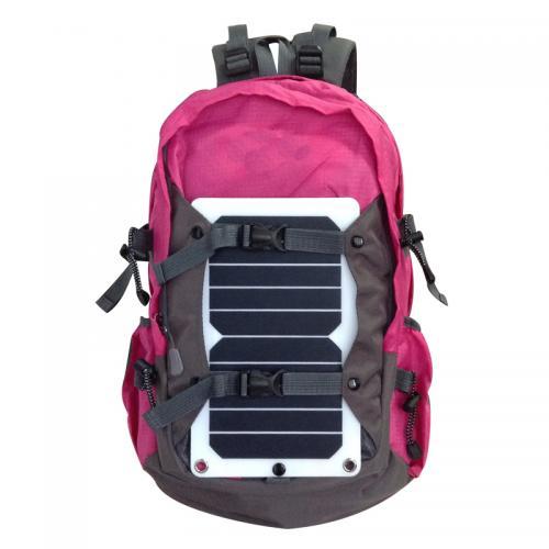 户外太阳能充电背包