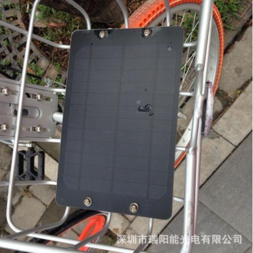 自行车篮太阳能电池板