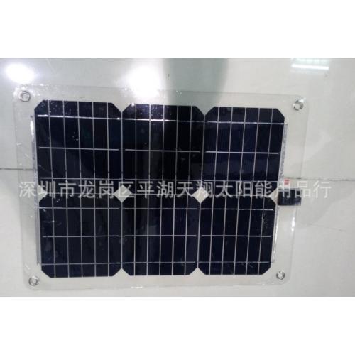半柔性透明太阳能发电系统