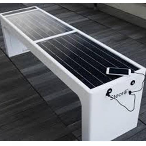 一款可以手機充電的太陽能椅