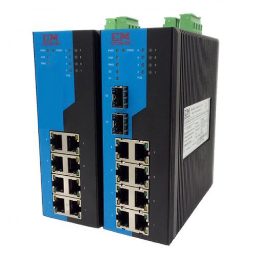 10口網管型POE工業以太網交換機